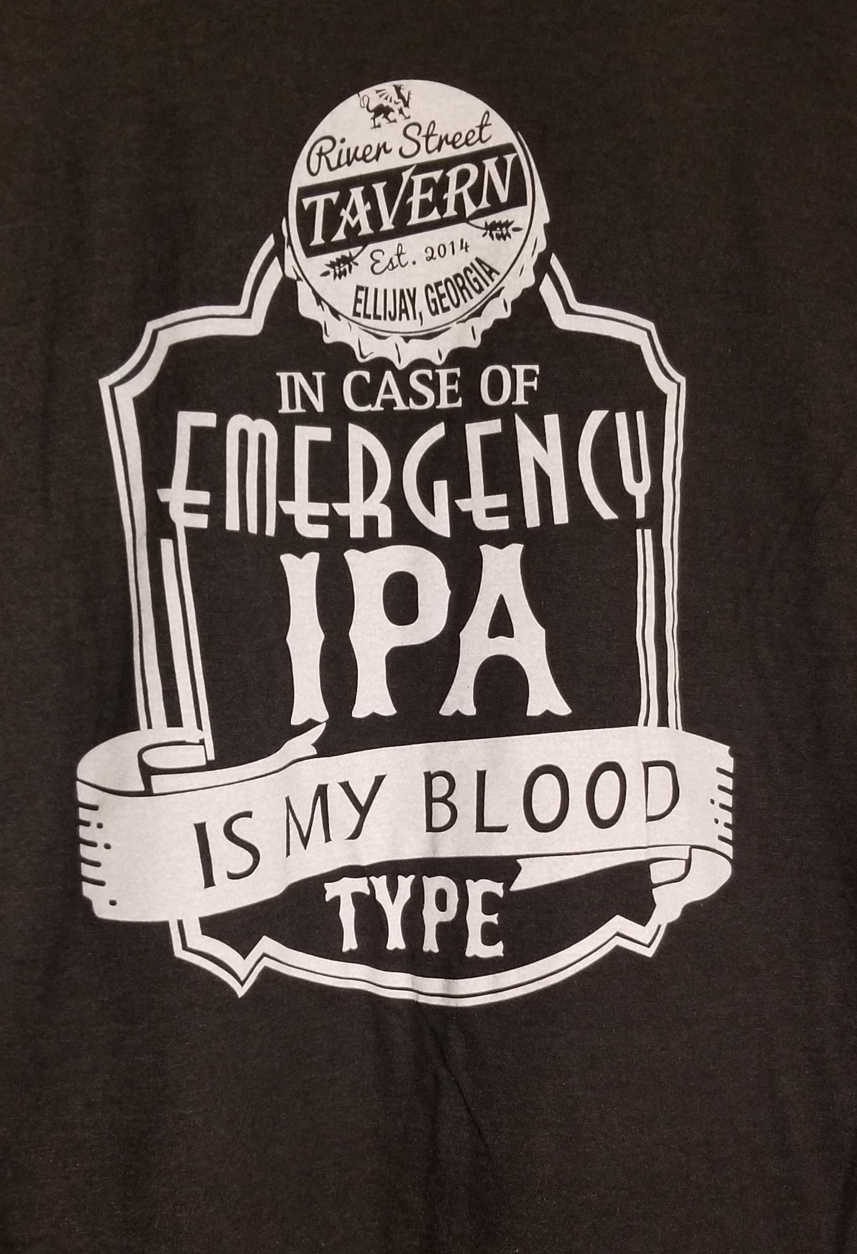 Black Tshirt - In Case Of Emergency