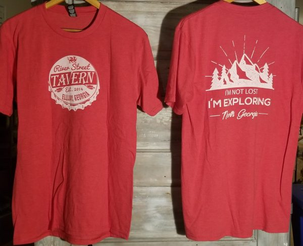 Red Tshirt - I'm Not Lost I'm Exploring North Georgia